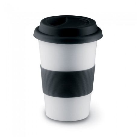 TRIBECA - Ceramic mug w/ lid and sleeve