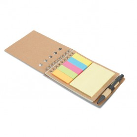 MULTIBOOK - Notebook with pen sticky notes