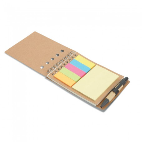 MULTIBOOK - Notebook with pen sticky notes