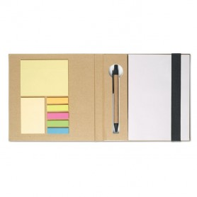 QUINCY - Notebook w/ stickynotes & pen