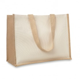 CAMPO DE FIORI - Jute and canvas shopping bag