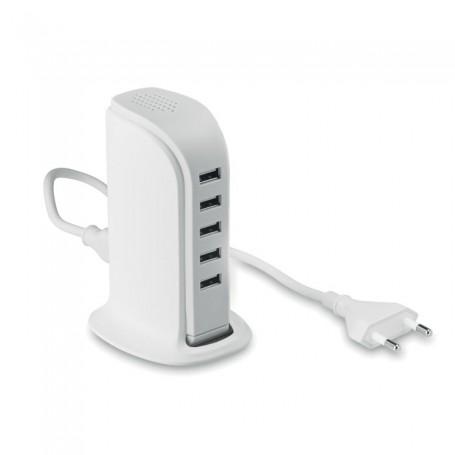 BUILDY - 5 port USB hub with AC adaptor