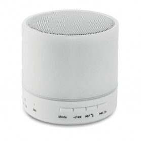 ROUND WHITE - Round Bluetooth speaker LED