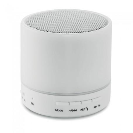 ROUND WHITE - Round Bluetooth speaker LED