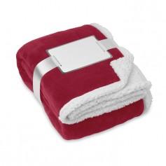 ZERMATT - Blanket, coral fleece/ sherpa