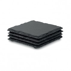 SLATE4 - Slate coasters with EVA bottom
