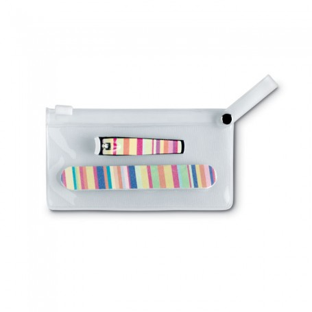 ARME - Manicure tools in clear pouch
