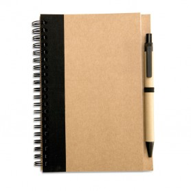 SONORA PLUS - Recycled paper notebook + pen