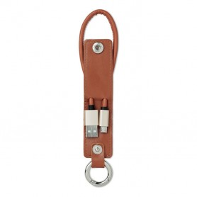 LISO - USB-A to micro-B cable keyring
