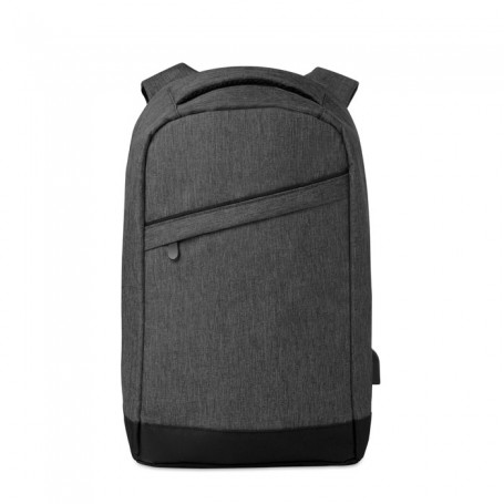 BERLIN - 2 tone backpack incl USB plug
