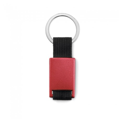 TECH BLACK - Metal rectangular key ring