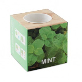 MENTA - Herb pot wood