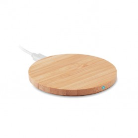 RUNDO - Round wireless charger bamboo