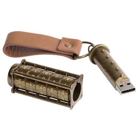"USB laikmena ""Cryptex"" su mechaniniu užraktu 32 Gb, USB 3.0"