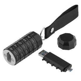 """Juodos spalvos USB atmintinė su kodu """"LokenToken"""", 32 GB, USB 3.0"""