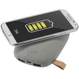 """Reklaminė išorinė baterija """"Powerbank Stone"""" su logotipu, 9000 mAh"""