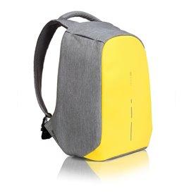 """Reklaminė kuprinė """"Bobby Compact"""" pilka-geltona apsaugota nuo vagių"""