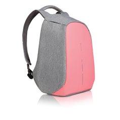 """Reklaminė kuprinė """"Bobby Compact pink-grey"""" apsaugota nuo vagių"""