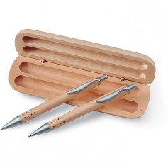 DEMOIN - Pen gift set in wooden box
