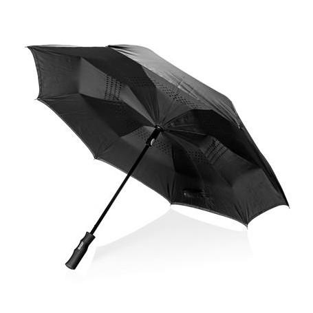 """Reklaminis dvisluoksnis skėtis """"PEAK 23"""" su apsauga nuo vėjo"""