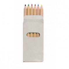 ABIGAIL - 6 coloured pencils in box