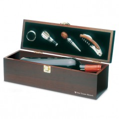 COSTIERES - Wine set in wine box