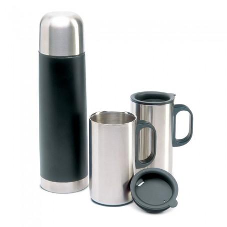 ISOSET - Insulation flask with 2 mugs