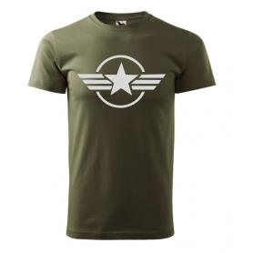 Reklaminiai personalizuoti rudi marškinėliai