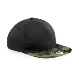"""Reklaminės komofliažinės FULL CAP kepurėlės su spauda """"GREEN"""""""