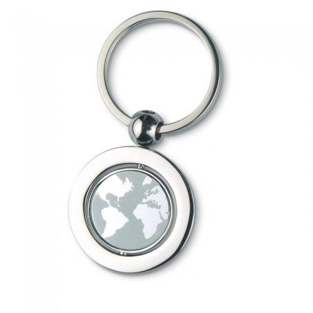 GLOBY - Globe metal key ring