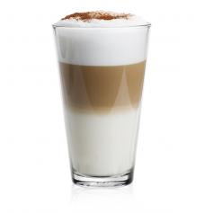 """Reklaminiai LATTE puodeliai be ąselės su logotipu """"KAWA"""""""