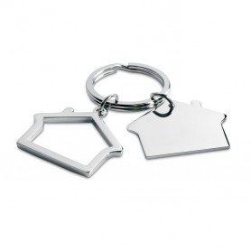 SNIPER - Metal key ring house shape