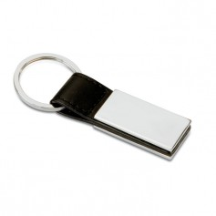 RECTANGLO - PU and metal key ring