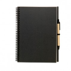 BLOQUERO PLUS - Recycled notebook and ball pen