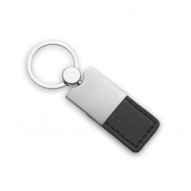 COLUMBUS - PU and metal key ring