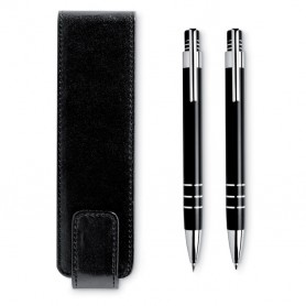 REPORTER - Ball pen and pencil in pouch