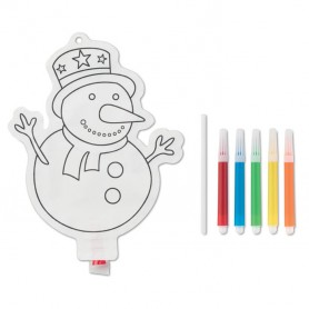 SNOWBALL - Snowman colouring balloon