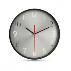 RONDO - Wall clock w silver background